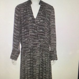 Tory Burch silk grey dress